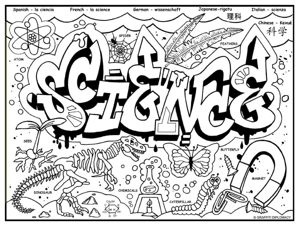 Science coloring #13, Download drawings
