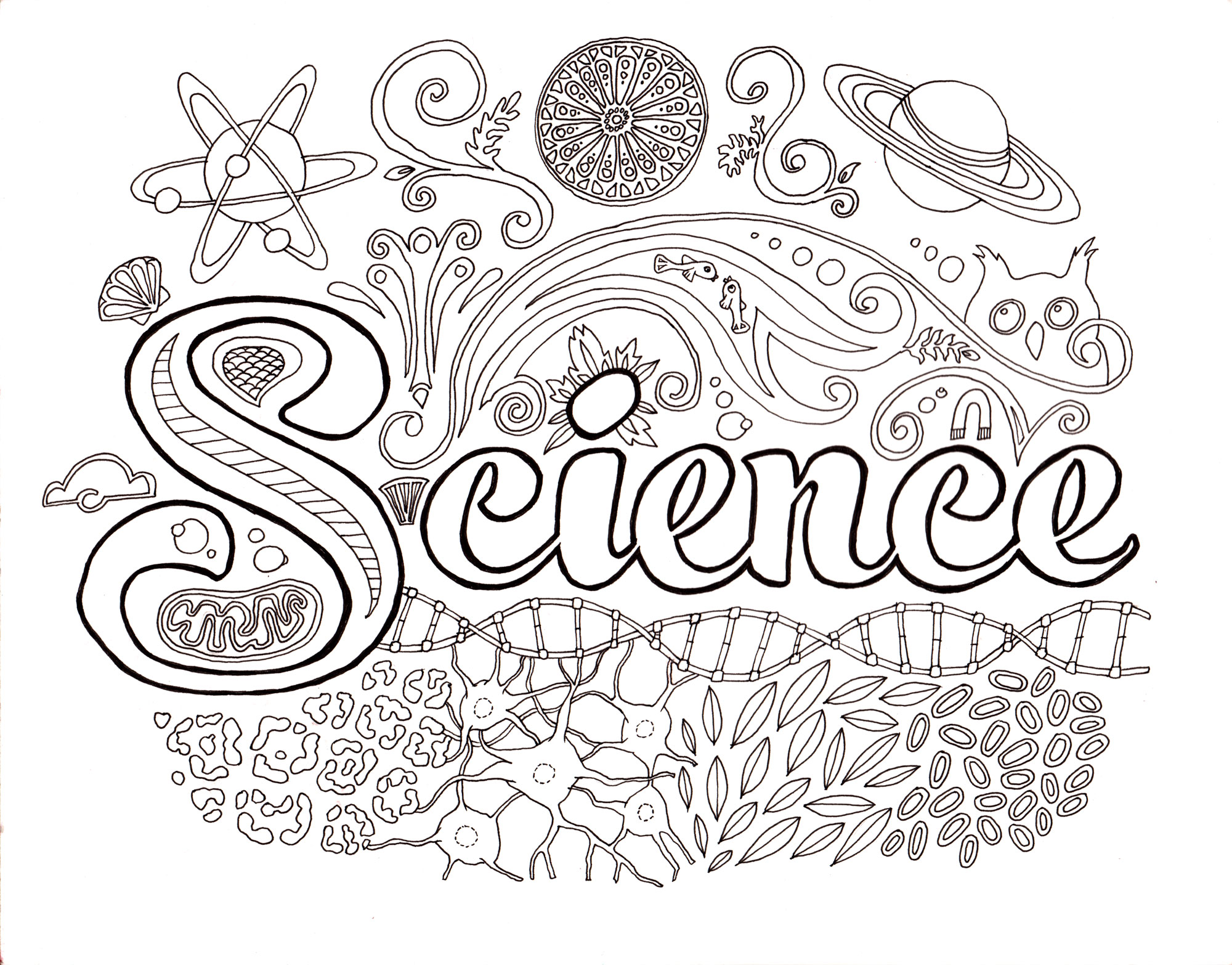 Science coloring #17, Download drawings