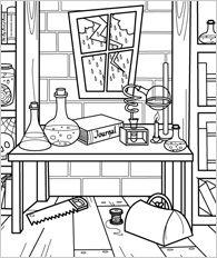 Scientific coloring #5, Download drawings