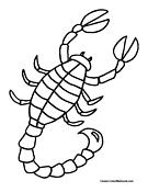 Scorpion coloring #4, Download drawings
