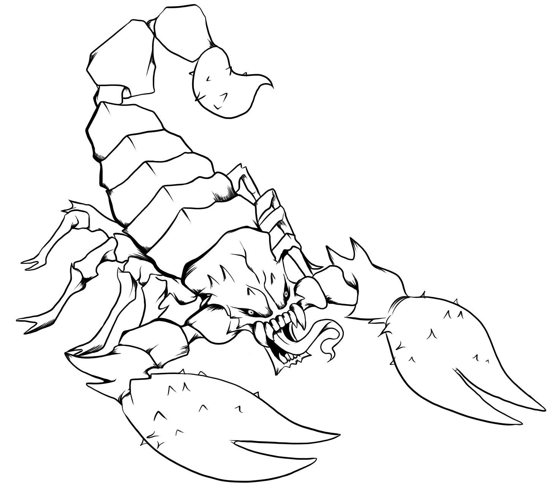 Scorpion coloring #18, Download drawings