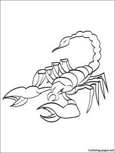 Scorpion coloring #3, Download drawings