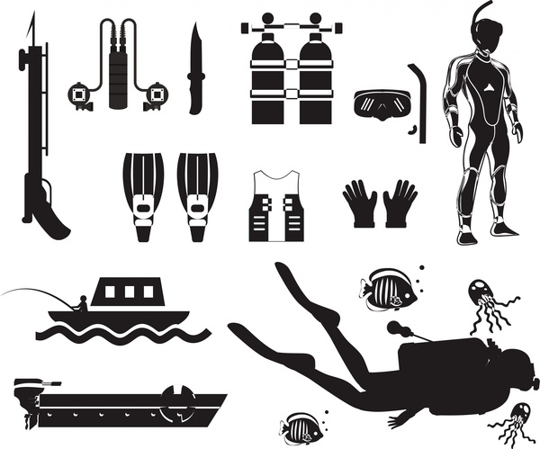 Scuba Diver svg #10, Download drawings