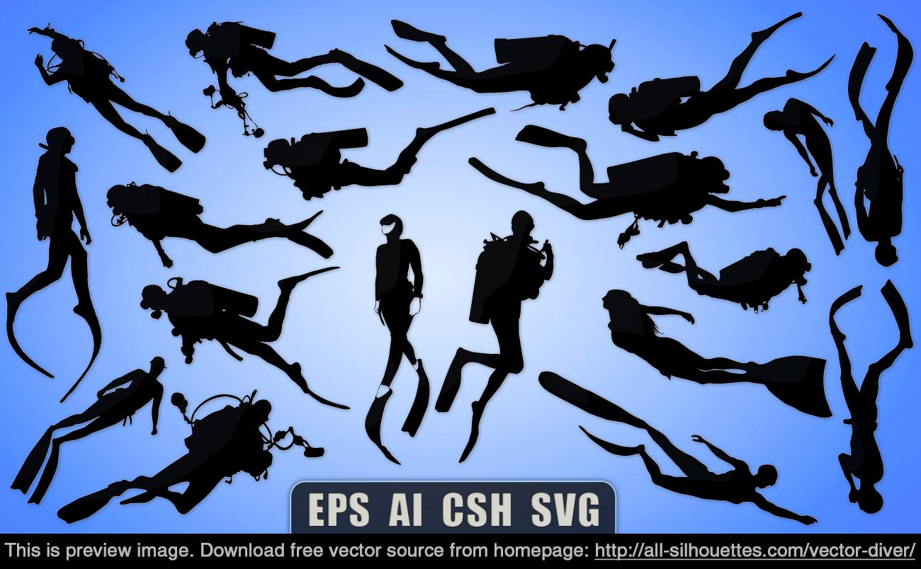 Scuba Diver svg #1, Download drawings