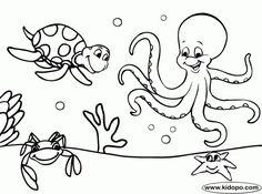 Sea coloring #15, Download drawings
