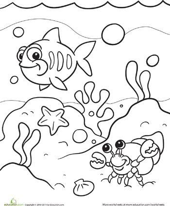 Sea coloring #1, Download drawings