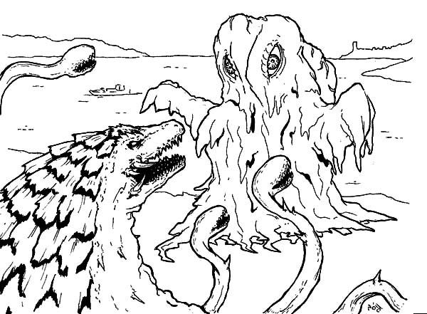 Sea Monster coloring #14, Download drawings