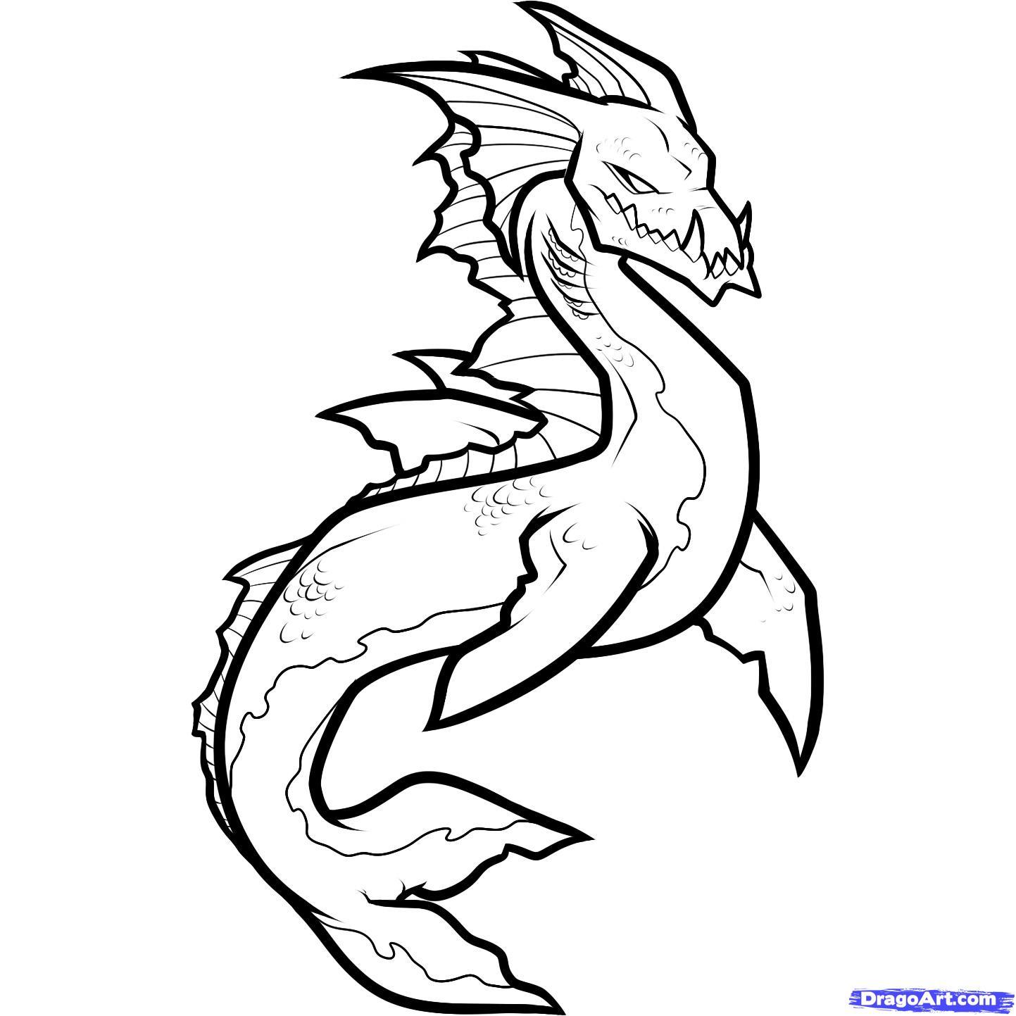 Sea Monster coloring #4, Download drawings