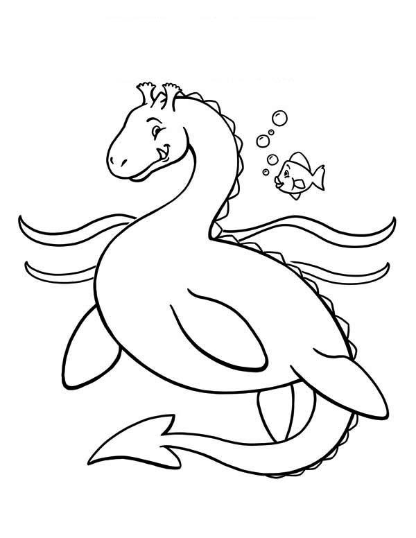 Sea Monster coloring #2, Download drawings