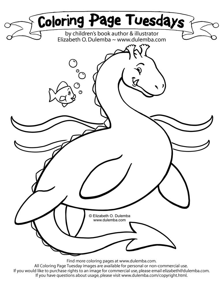 Sea Monster coloring #11, Download drawings