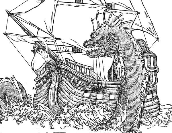 Sea Monster coloring #19, Download drawings