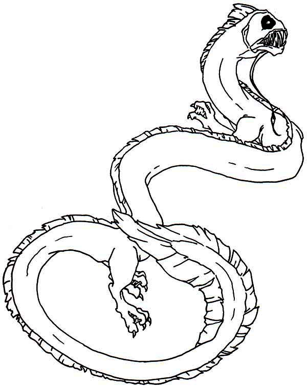 sea monster coloring pages - photo#7
