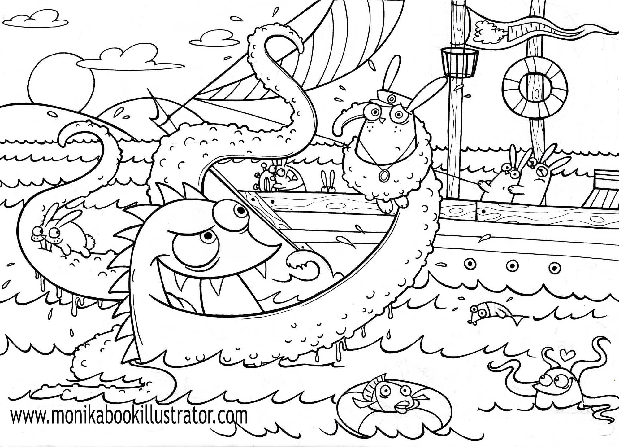 Sea Monster coloring #12, Download drawings