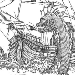 Sea Monster coloring #18, Download drawings