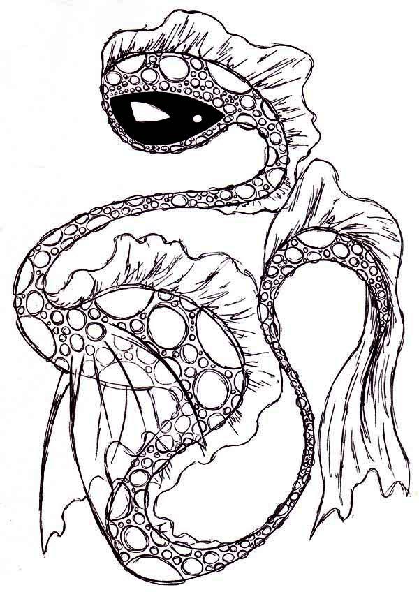 Sea Monster coloring #17, Download drawings