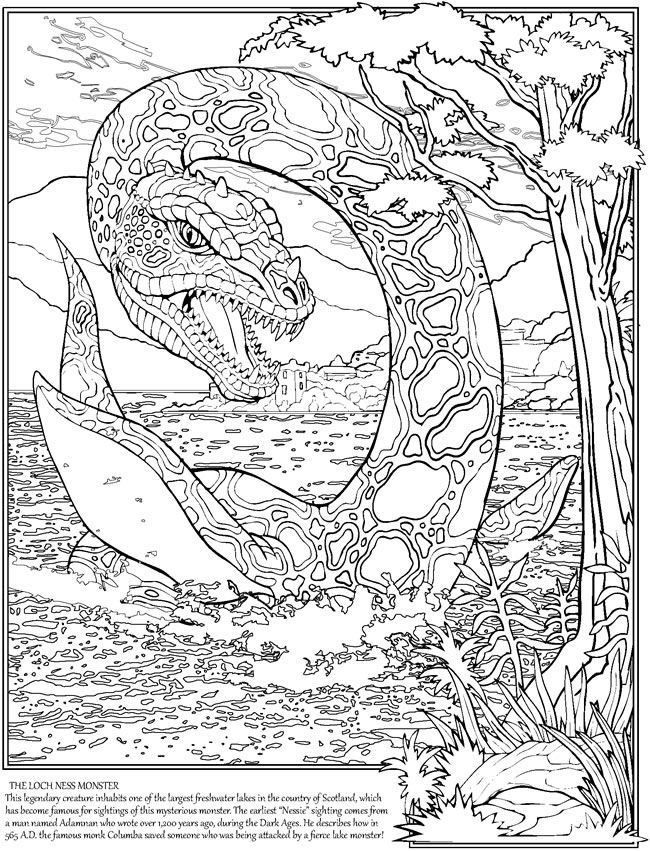 Sea Monster coloring #5, Download drawings