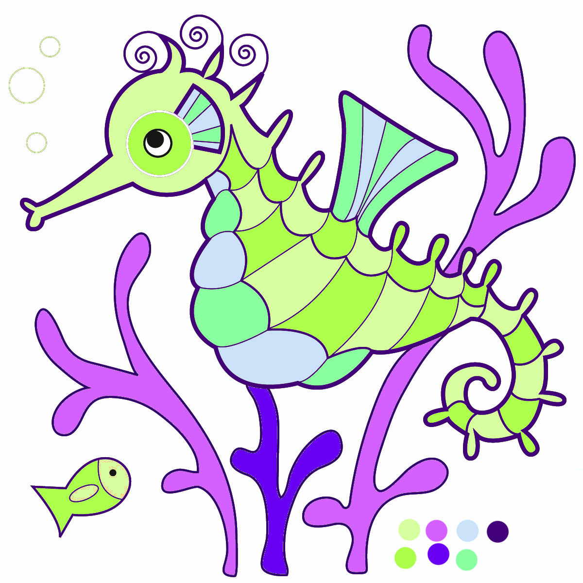 Seahorse clipart #3, Download drawings