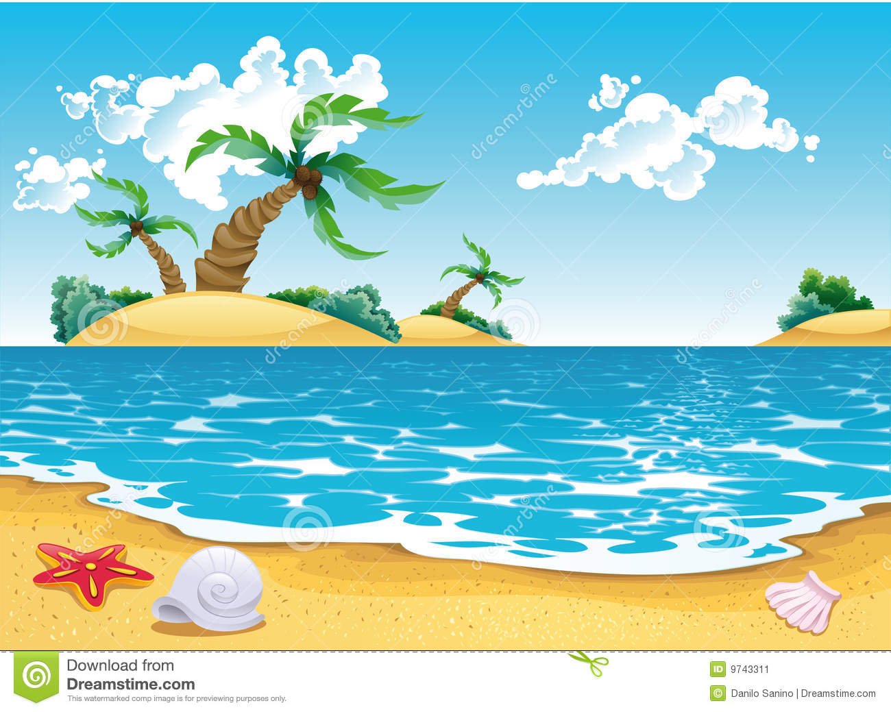 Seascape clipart #6, Download drawings