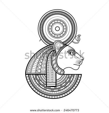 Sekhmet (Deity) coloring #6, Download drawings