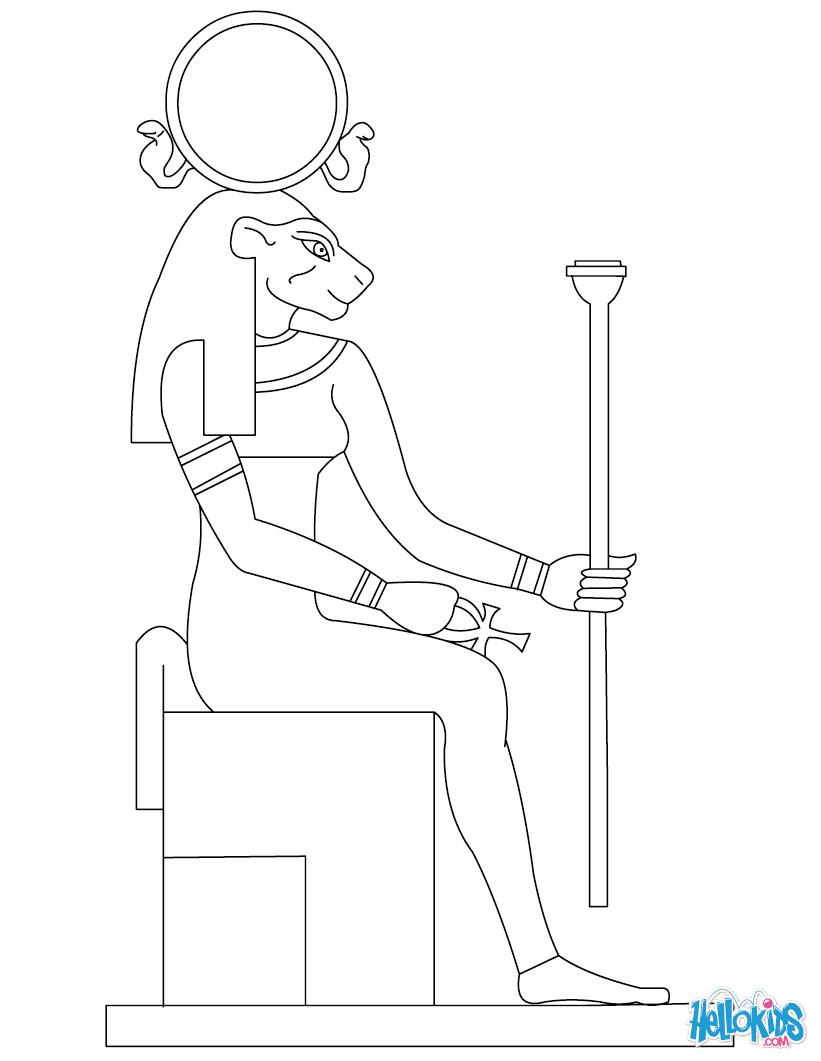 Sekhmet (Deity) coloring #11, Download drawings