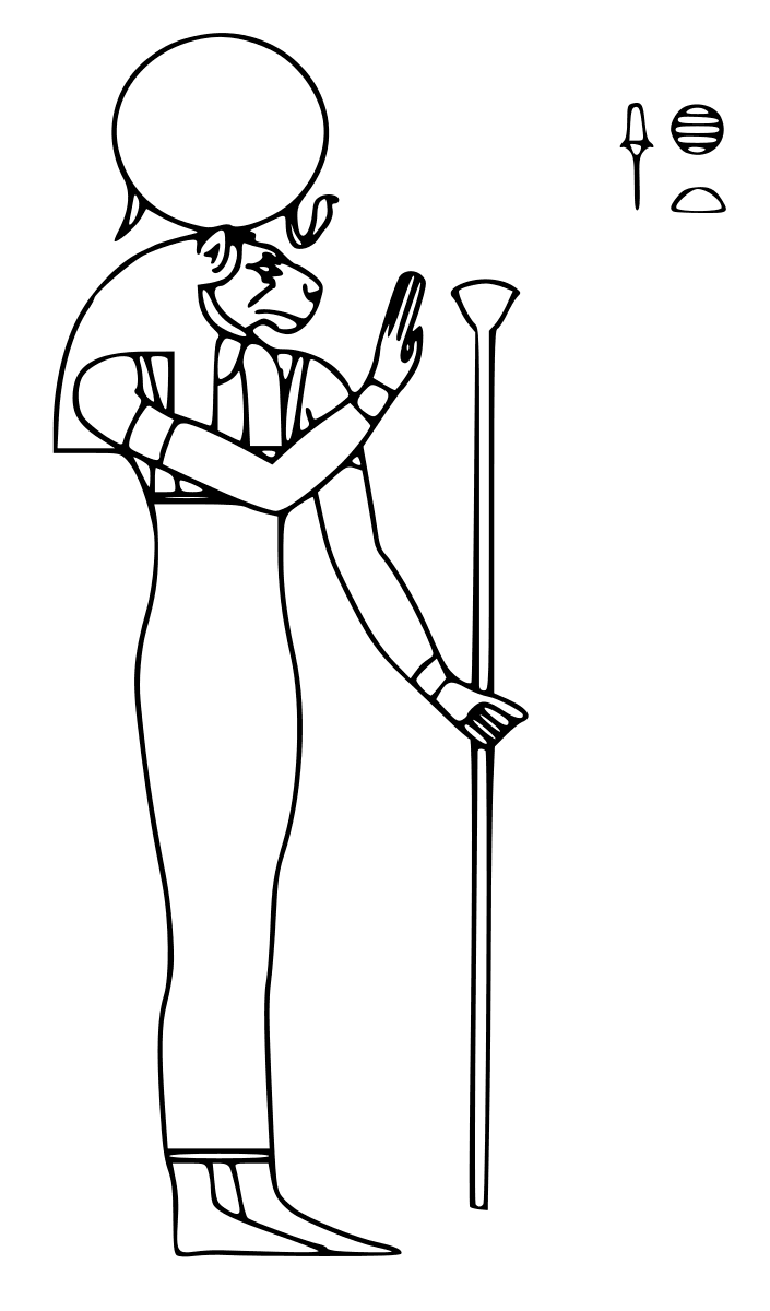Sekhmet (Deity) coloring #8, Download drawings