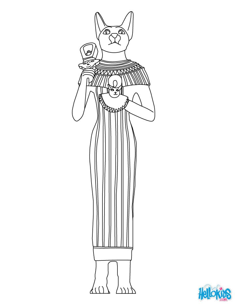 Sekhmet (Deity) coloring #5, Download drawings