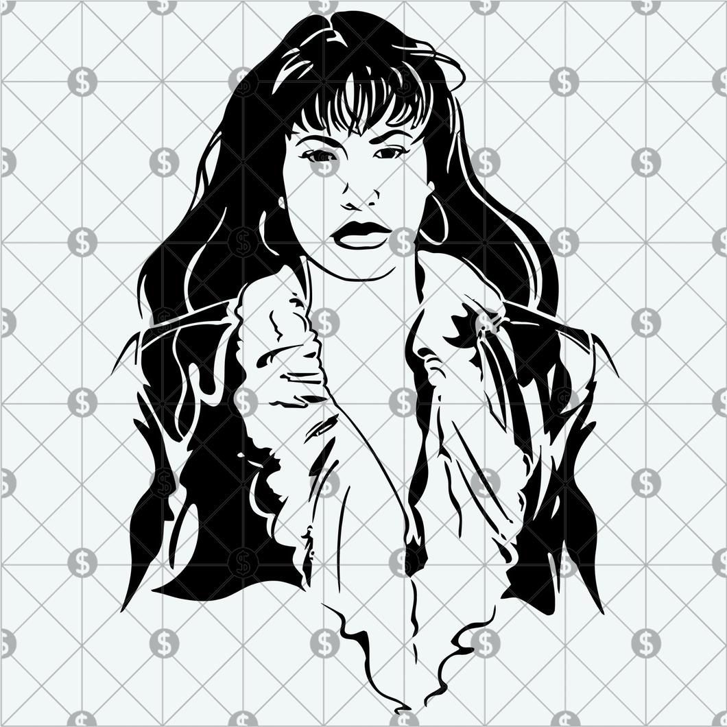 selena svg #779, Download drawings