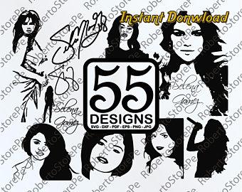 selena svg #793, Download drawings