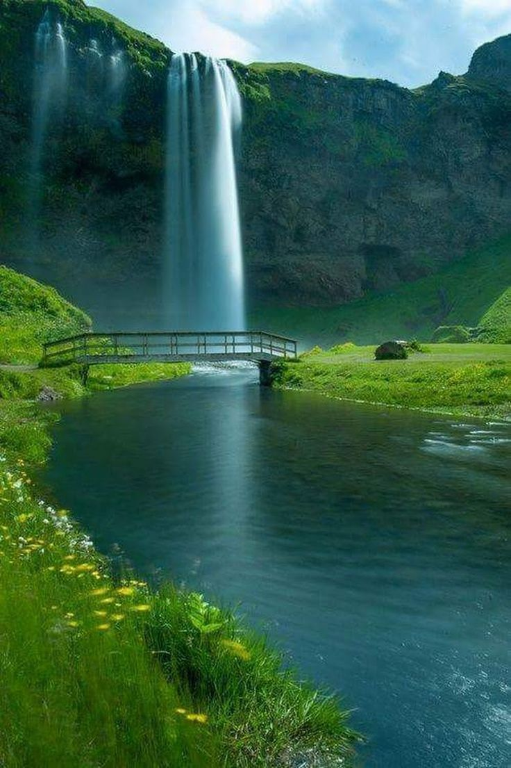 Skogafoss Waterfall coloring #18, Download drawings