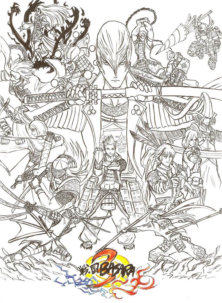 Sengoku Basara coloring #20, Download drawings