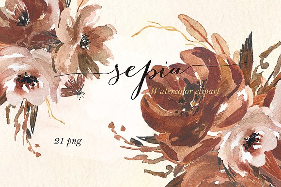 Sepia clipart #12, Download drawings