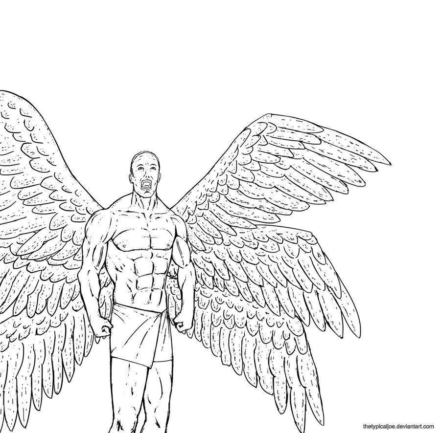 Seraph coloring #7, Download drawings