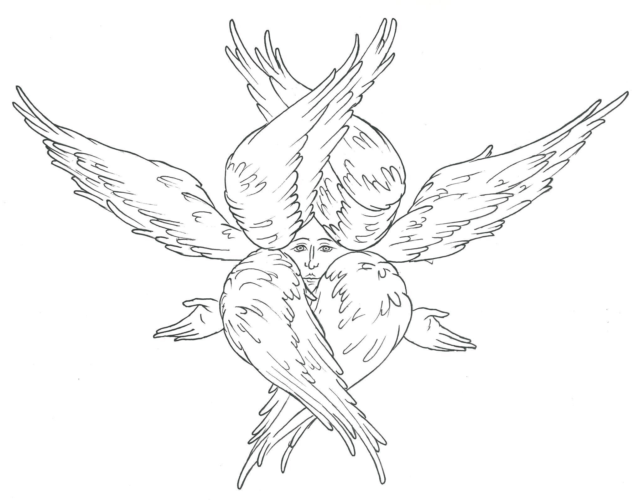 Seraph coloring #2, Download drawings