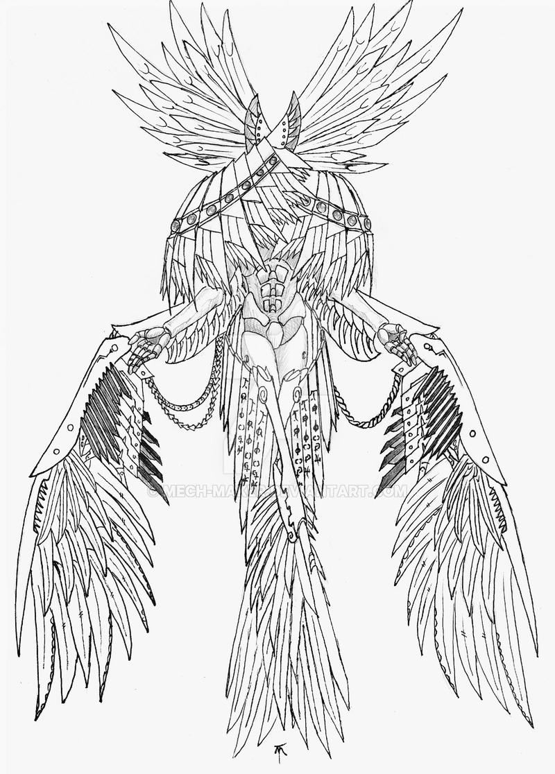Seraphim coloring #1, Download drawings