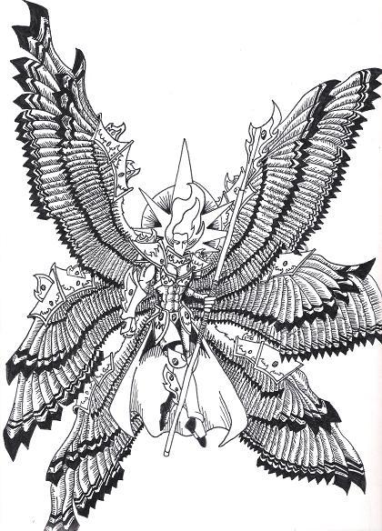 Seraphim coloring #12, Download drawings
