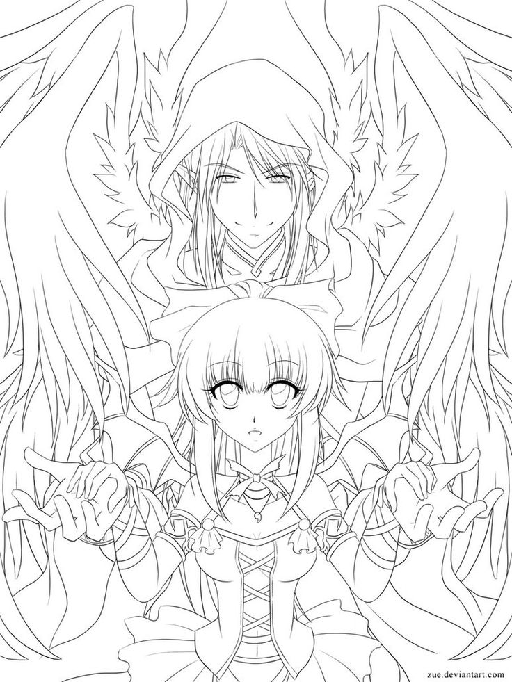 Seraphim coloring #6, Download drawings