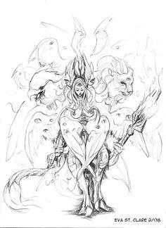 Seraphim coloring #5, Download drawings