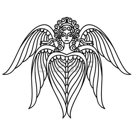 Seraphim coloring #20, Download drawings
