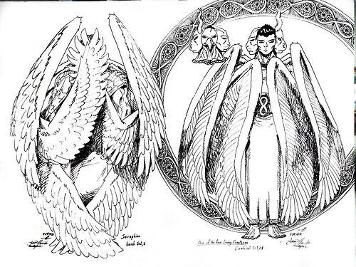 Seraphim coloring #13, Download drawings