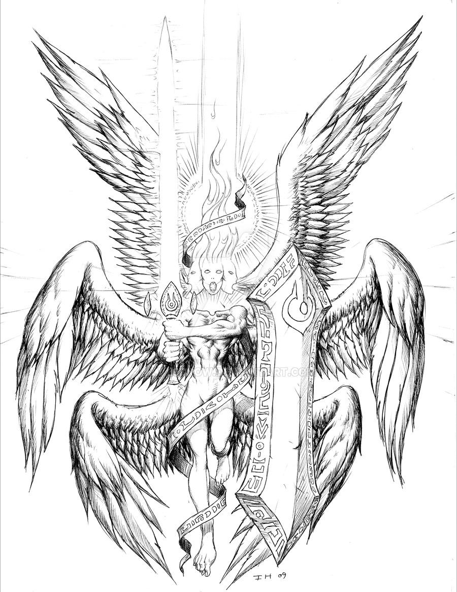 Seraphim coloring #3, Download drawings