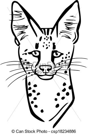 Serval clipart #10, Download drawings