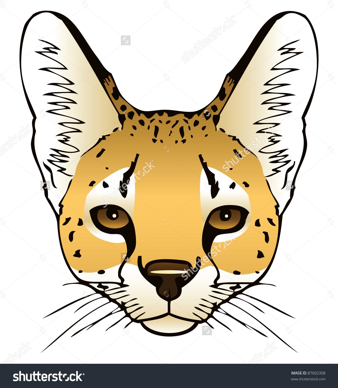 Serval clipart #9, Download drawings