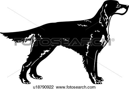 Setter clipart #13, Download drawings