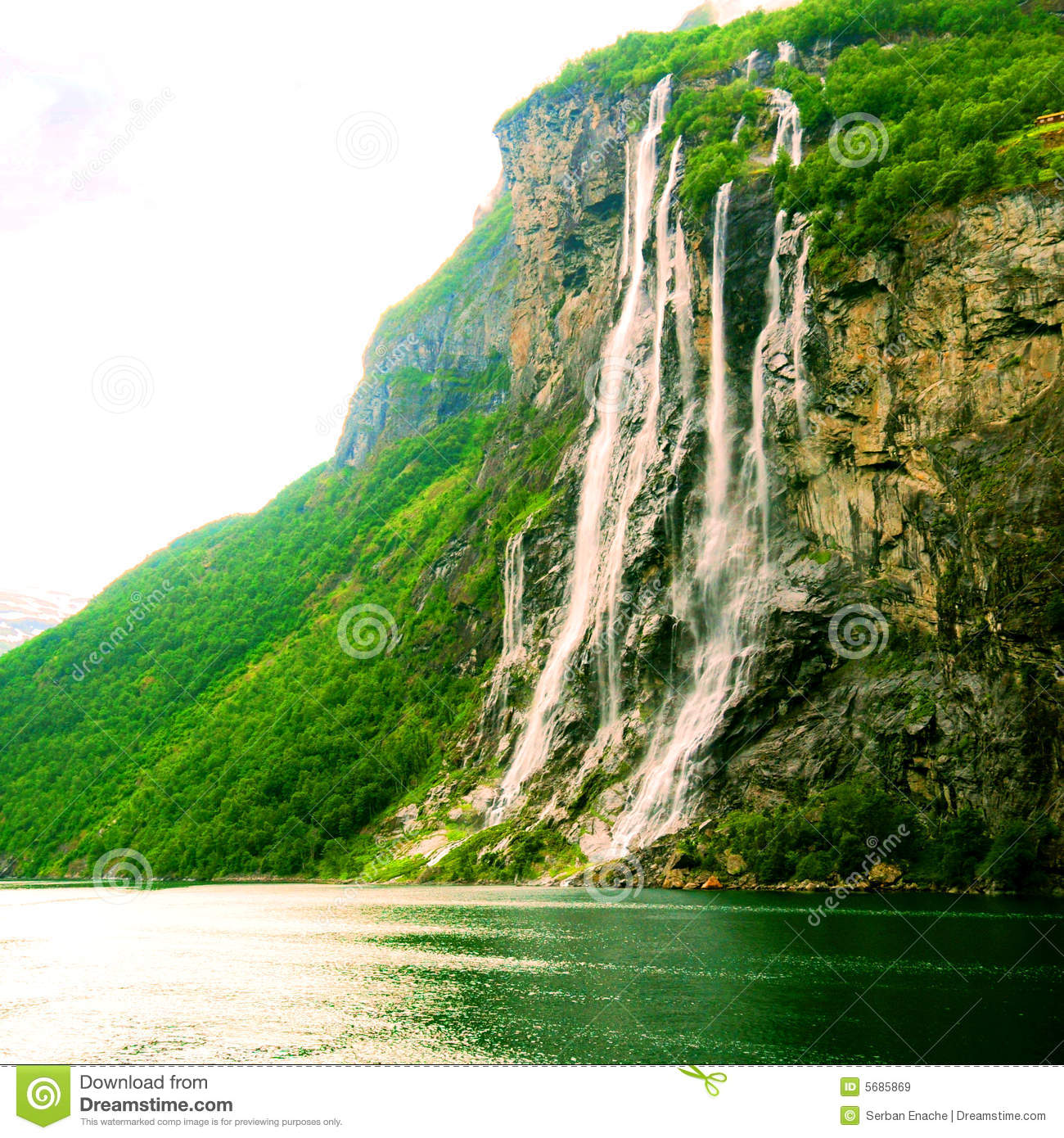 Seven Sisters Waterfall, Norway clipart #6, Download drawings
