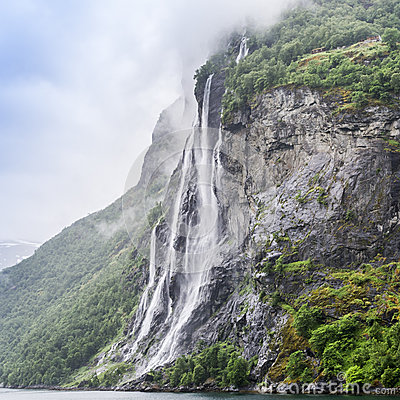 Seven Sisters Waterfall, Norway clipart #5, Download drawings