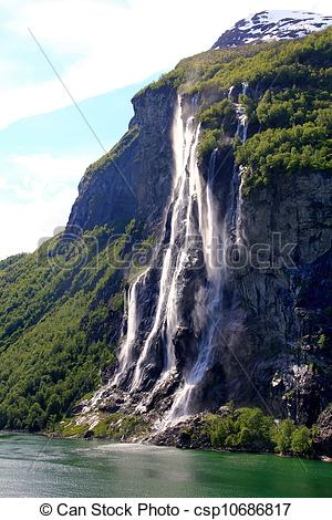 Seven Sisters Waterfall, Norway clipart #15, Download drawings