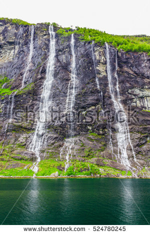 Seven Sisters Waterfall, Norway clipart #9, Download drawings
