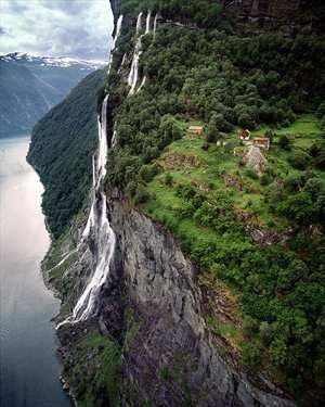 Seven Sisters Waterfall, Norway svg #7, Download drawings