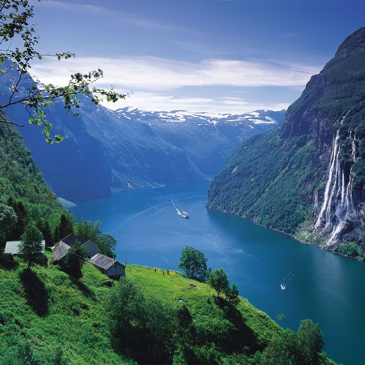 Seven Sisters Waterfall, Norway svg #4, Download drawings