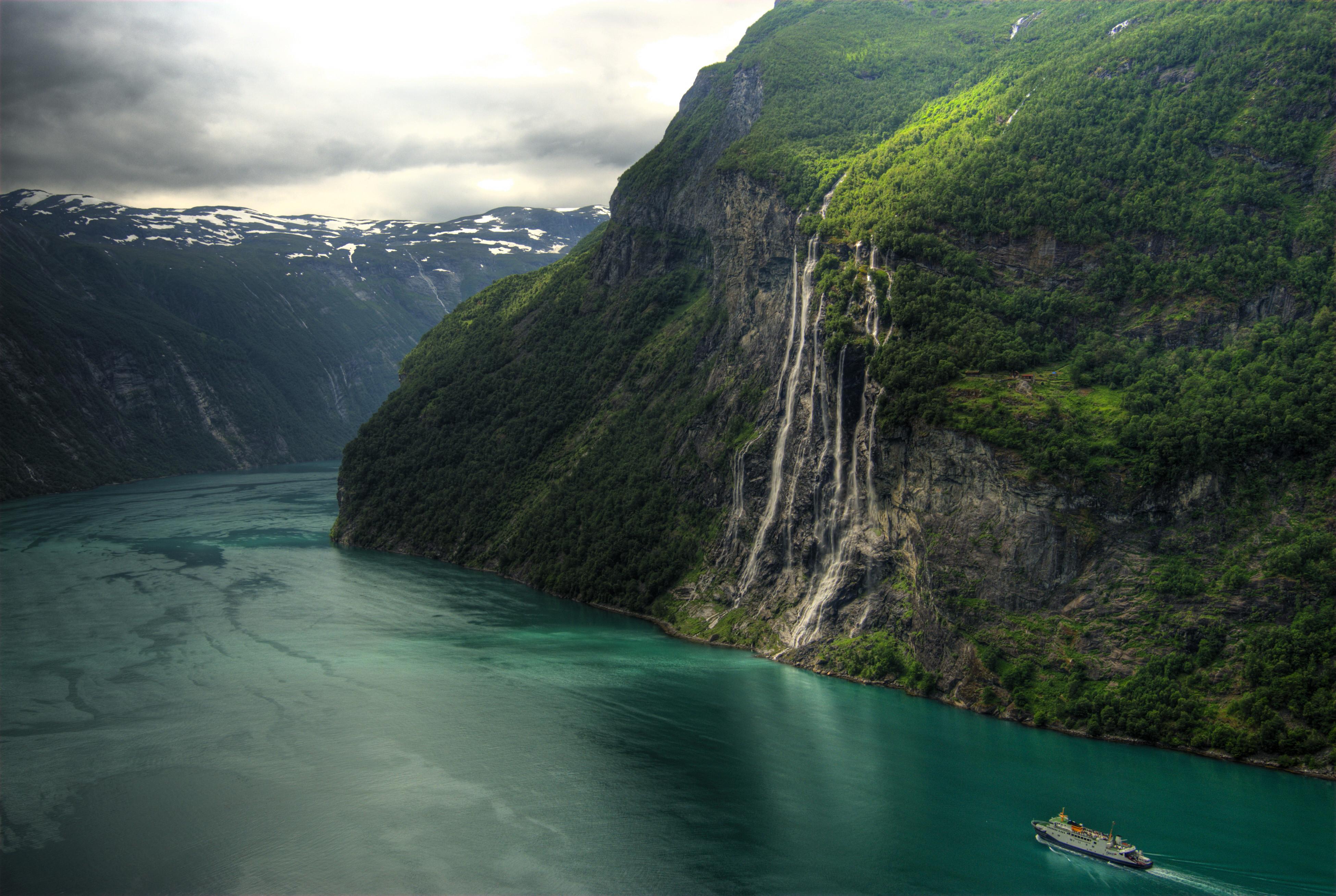 Seven Sisters Waterfall, Norway svg #10, Download drawings